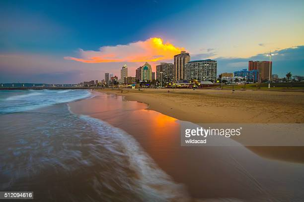 durban beachfront - south africa stock pictures, royalty-free photos & images