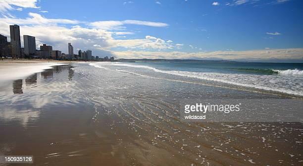 durban skyline - south africa - durban beach stock photos and pictures