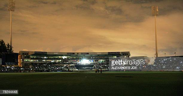 General view of Kingsmead Stadium after the power switched off 07 Febuary 2007 during the 2nd One Day International between South Africa and Pakistan...