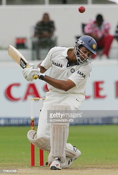 Indian V.V.S Laxman avoids a bouncer off the ball bowled by South African Makhaya Ntini on the final day of the 2nd Test between India and South...