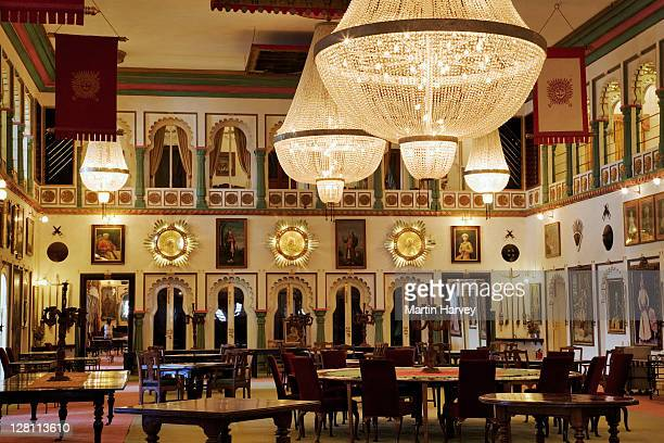Durbar Hall of Audience in the Fadehprakash Palace. Part of the City Palace Complex, Udaipur, India. (PR: Property Released)