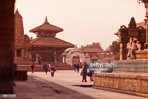durbar square in bhaktapur - merten snijders stock pictures, royalty-free photos & images