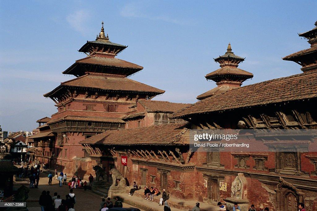 Durbar Square, Patan, Kathmandu Valley, Nepal, Asia : ストックフォト