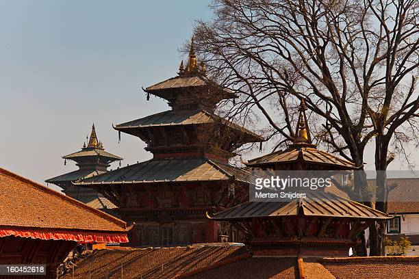 durbar square temples at siddhidas marg - merten snijders photos et images de collection