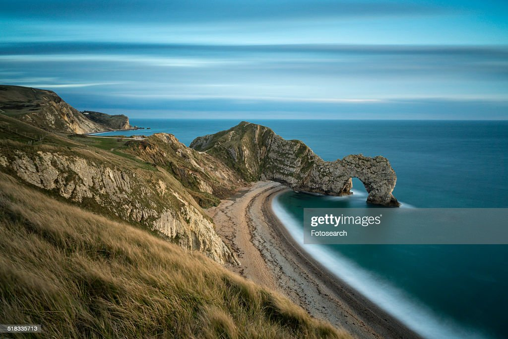 Durdle Door at sunset : Stock Photo