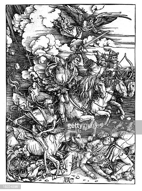 Durer Albrecht The Four Horsemen of the ApocalypseParis Bibliotheque Nationale