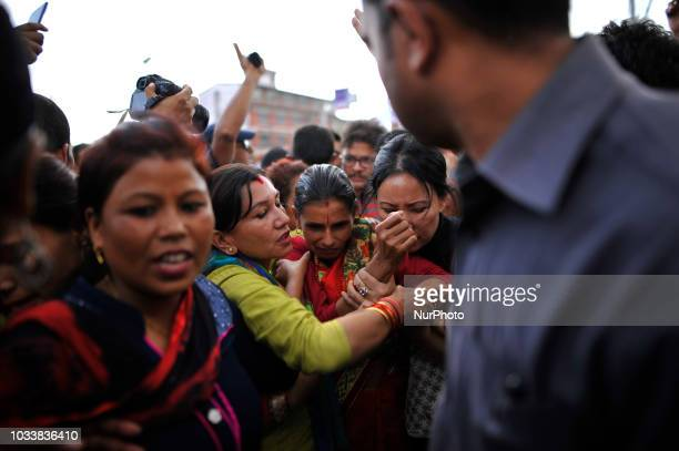 Durga Devi Panta mother of 13yrs old Nirmala Panta who was raped and murdered 50 days ago in Kanchanpur district left the huge mass after demanding...