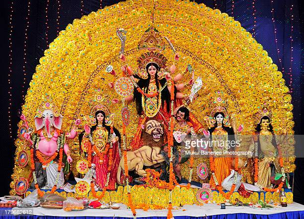 Durga Idol, Durga Puja Celebration, Delhi