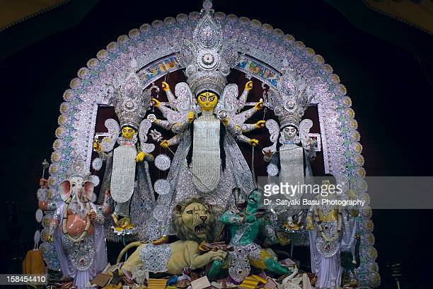durga puja , bagbazar - durga stock photos and pictures