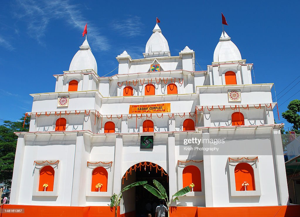 Durga puja pandal stock photo getty images durga puja pandal stock photo altavistaventures Choice Image