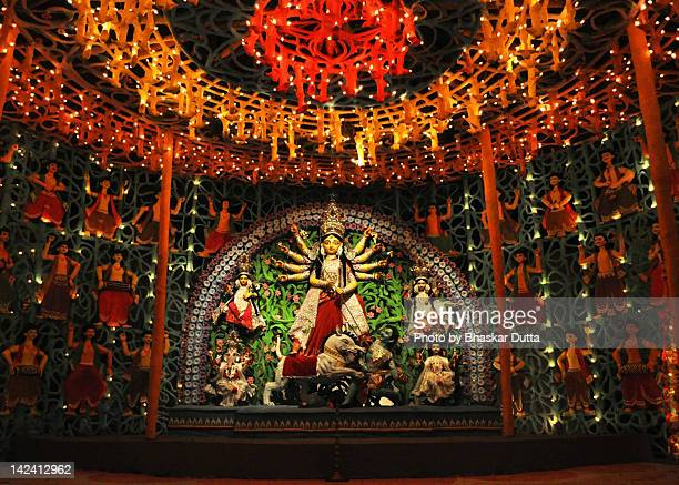 durga puja - durga stock photos and pictures