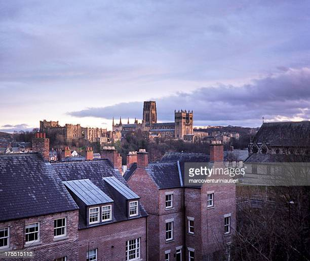 durham and its cathedral, evening - marcoventuriniautieri stock pictures, royalty-free photos & images