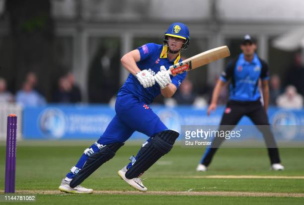 Durham batsman Alex Lees picks up some runs during the Royal London One Day Cup match between Worcestershire and Durham at New Road on April 24 2019...