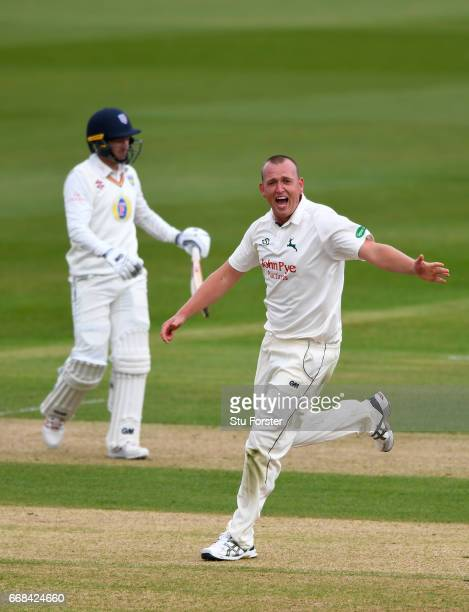 Durham batsman Michael Richardson leaves the field after being dismissed by Luke Fletcher during day one of the Specsavers County Championship...
