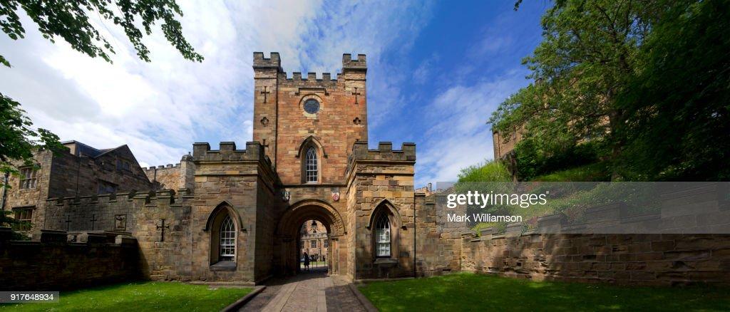 Durham Castle gatehouse. : Stock Photo