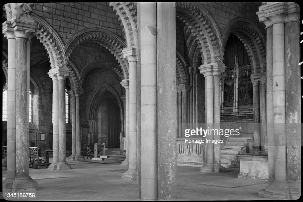Durham Cathedral, Palace Green, Durham, 1942. An interior view of the galilee in Durham Cathedral, seen from the south-west corner with a partial...