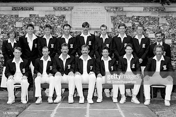 Durham county cricket team at Lord's cricket ground in London circa August 1992 Back row S Job Steve McEwan Paul Henderson John Glendenen Simon Brown...