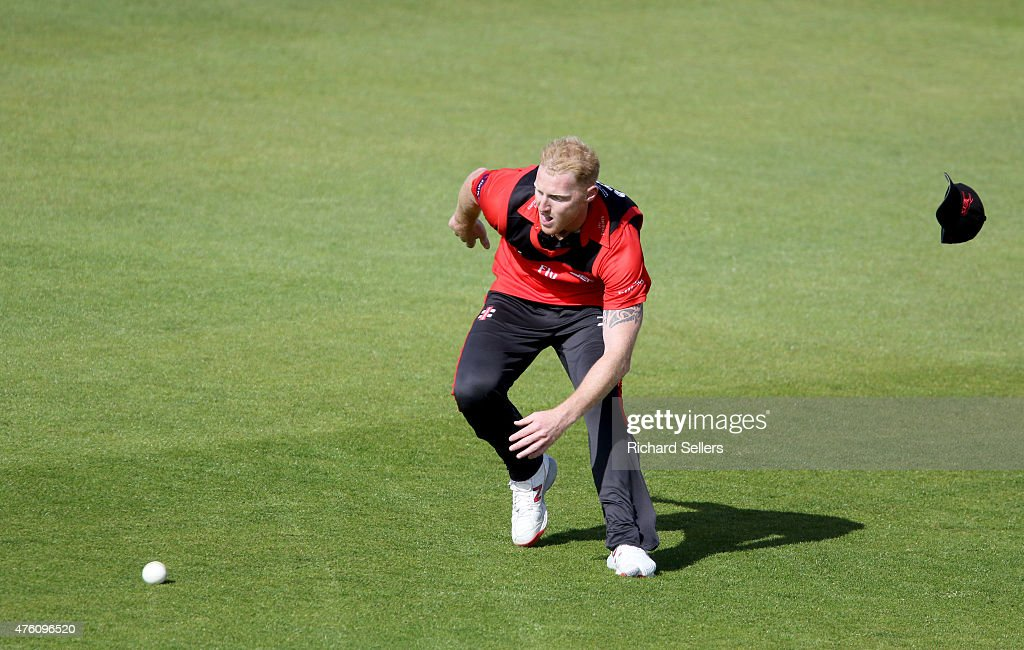 Durham Jets Ben Stokes in action during the NatWest T20 Blast between Durham Jets and Birmingham Bears at Emirates Durham ICG, on June 06, 2015 in Chester-le-Street, England.