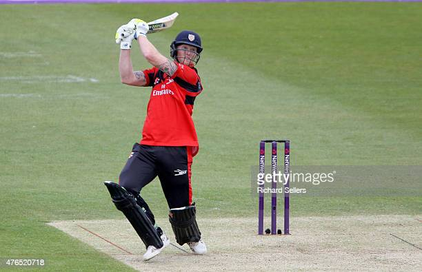 Durham Jets Ben Stokes in action during the NatWest T20 Blast between Durham Jets and Birmingham Bears at Emirates Durham ICG on June 06 2015 in...