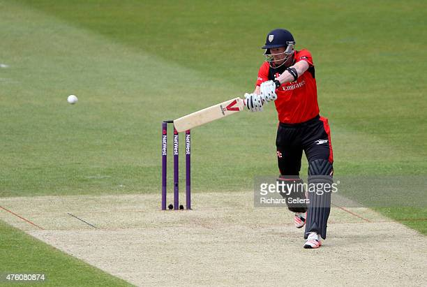 Durham Jets Paul Collingwood in action during the NatWest T20 Blast between Durham Jets and Birmingham Bears at Emirates Durham ICG on June 06 2015...