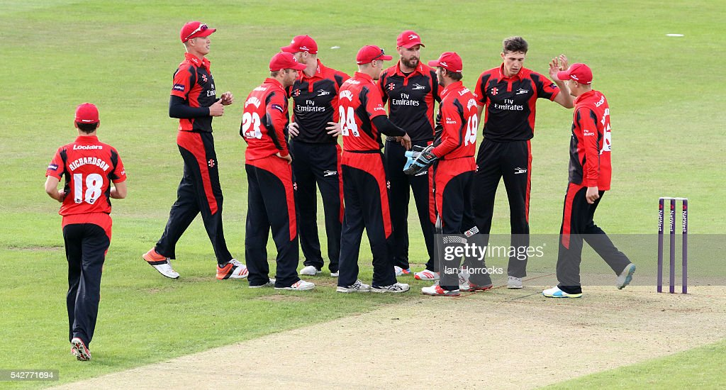Durham players celebrates the wicket of Tim Bresnan during the NatWest T20 Blast game between Durham Jets and Yorkshire Vikings at Emirates Durham ICG on June 24, 2016 in Chester-le-Street, England.