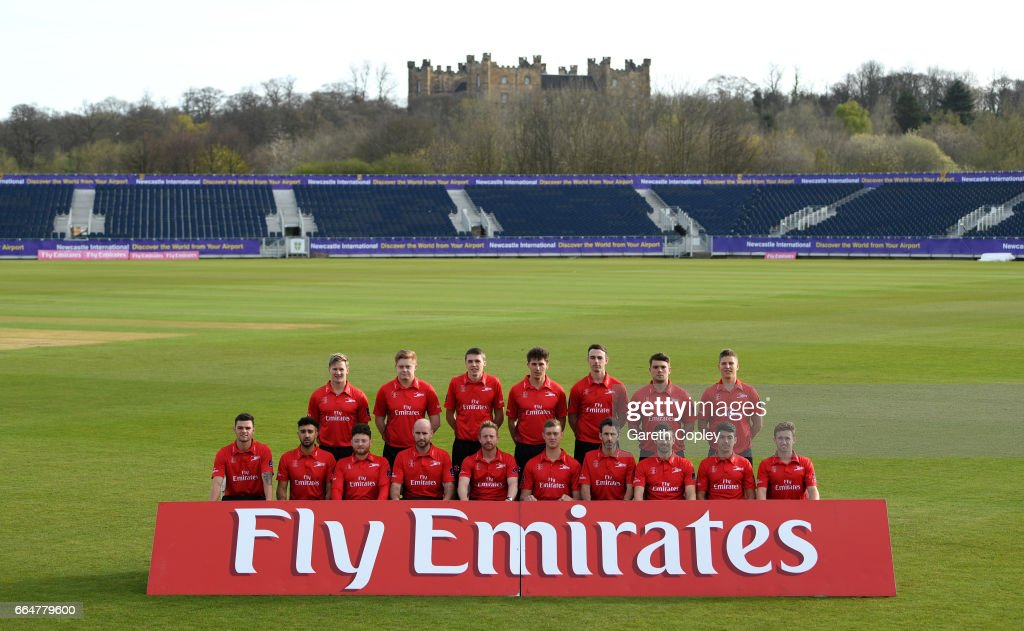 Durham team at The Riverside on April 5, 2017 in Chester-le-Street, England.