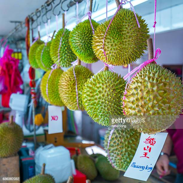 Durian for sale in the market