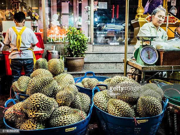 Durian fruit for sale Chinatown Bangkok