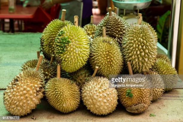 durian of malaysia - durian stock pictures, royalty-free photos & images
