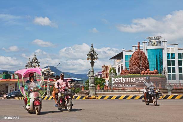Durian Roundabout in Central Kampot town