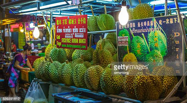 A durian stall in Bangkok Chinatown