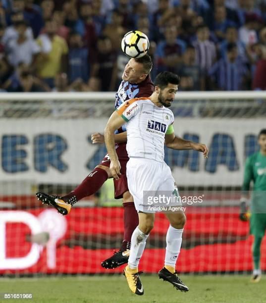 Durica of Trabzonspor in action during the Turkish Super Lig week 6 soccer match between Trabzonspor and Aytemiz Alanyaspor at Medical Park Stadium...