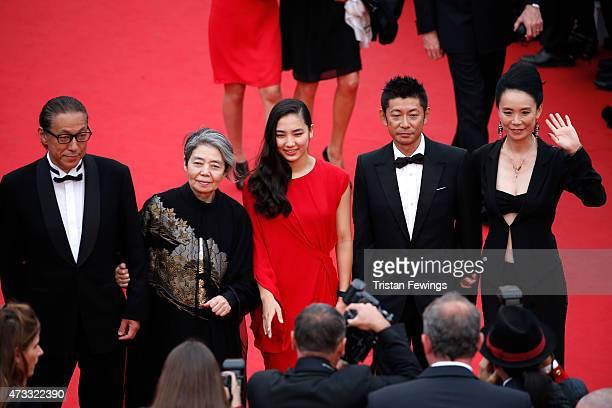 Durien Sukegawa Kirin Kiki Kyara Uchida Masatoshi Nagase and Naomi Kawase attend Premiere of 'An' during the 68th annual Cannes Film Festival on May...