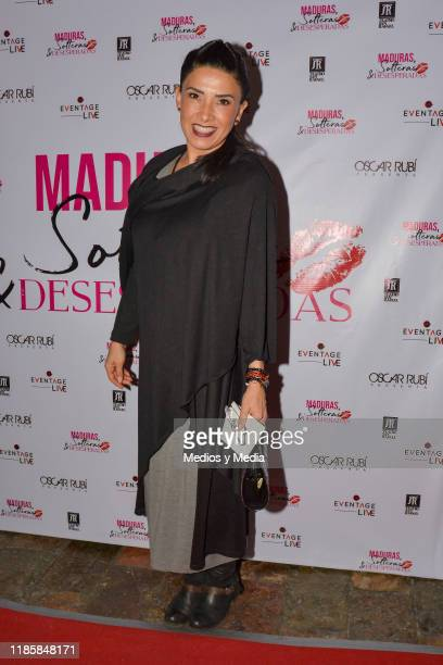 during 100th shows celebration of 'Maduras Solteras y Desesperadas' red carpet at San Rafael Theatre on November 5 2019 in Mexico City Mexico