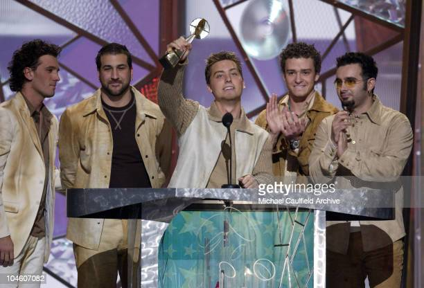 *NSYNC during 2001 Billboard Music Awards Show at The MGM Grand Hotel in Las Vegas Nevada United States
