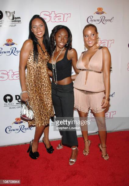 3LW during 2005 MTV VMA Island Def Jam Music Group Party Sponsored by Star Magazine Arrivals at Mansion in Miami Beach Florida United States