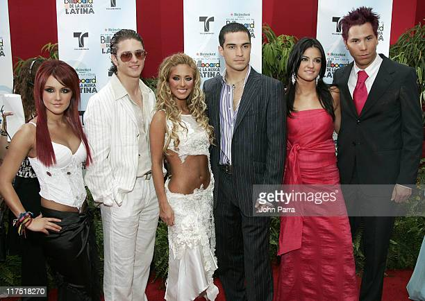 RBD during 2006 Billboard Latin Music Conference Awards Arrivals at Seminole Hard Rock Hotel and Casino in Hollywood Florida United States
