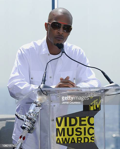 TI during 2006 MTV Video Music Awards Nomination Announcement at Top of the Rock Rockefeller Center in New York City New York United States