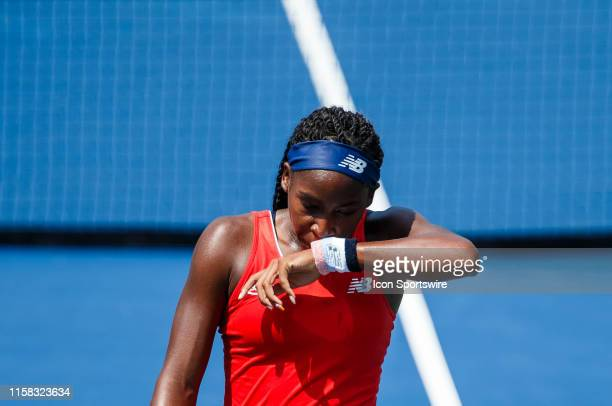 During 2nd qualifying match of the 2019 Citi Open on July 28,2019 at Rock Creek Park Tennis Center in Washington D.C.