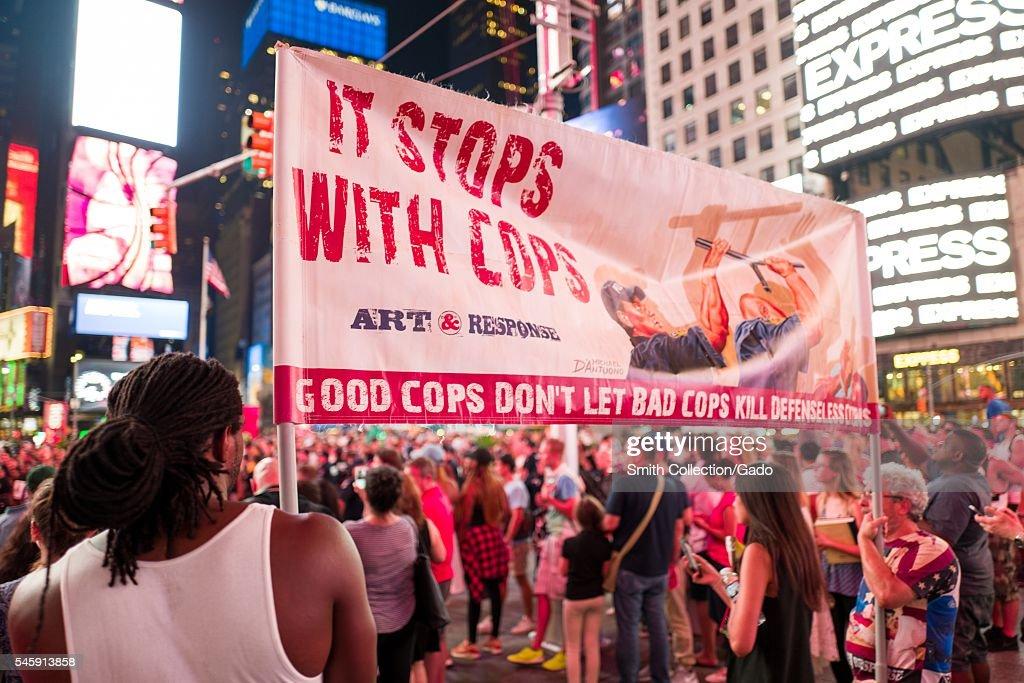 Times Square Protest : Foto jornalística