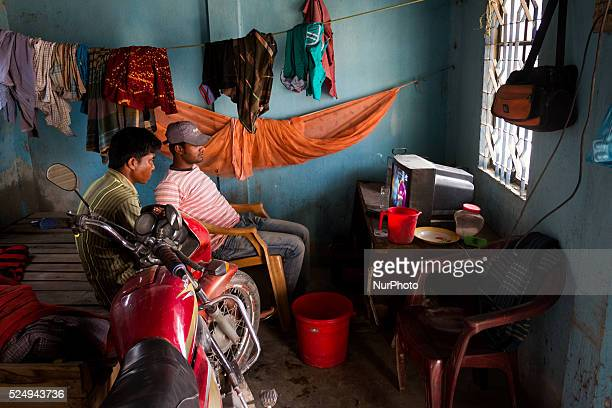 During a break two officials of the crashing plant was watching World Cup Cricket 2015 match between Newzeland and West Indies in a Stone Crashing...