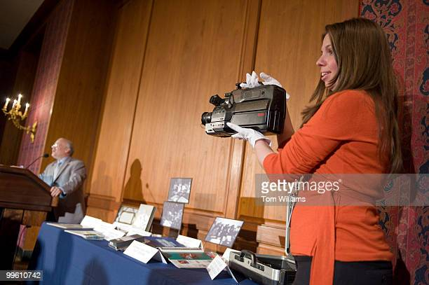 During a ceremony to donate objects from America's Funniest Home Videos to the National Museum of American History April 8 Gina Whiteman museum...