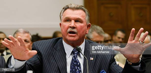 During a congressional hearing on the National Football League's system for compensating retired players, Hall of Fame tight end and head coach Mike...