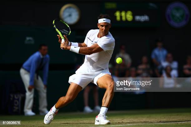 during a day five match of the 2017 Wimbledon on July 7 at All England Lawn Tennis and Croquet Club in London England