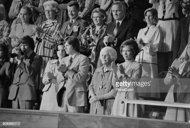 During a Joint Session of the United States Congress President Carter's family and others stand an applaud Washington DC April 20 1977 Among those...