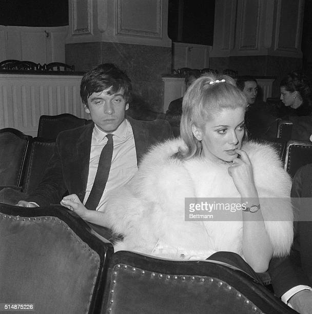 During a meditative moment Catherine Deneuve nibbles her finger The French actress might have been thinking nervously about the audience reaction...