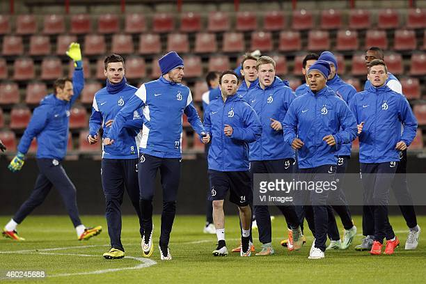 during a training session of Dinamo Moscow prior to the Europa League match between PSV Eindhoven and Dinamo Moscow on December 10 2014 at the...