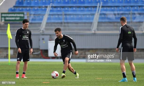 during a training session of the New Zealand national football team at Petrovsky Stadium on June 18 2017 in Saint Petersburg Russia