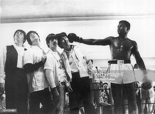 During a visit to the training room of the boxer in Miami the BEATLES were acting as they were knocked out by the American boxer Muhammad ALI became...