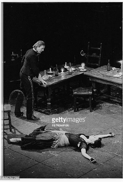 During Act II in the opera Carmen Carmen trys to seduce Don Jose by dancing for him in a tavern Don Jose's love for Carmen leads to the destruction...